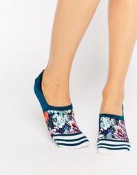 Носки с цветочным принтом и полосками Stance - Серый