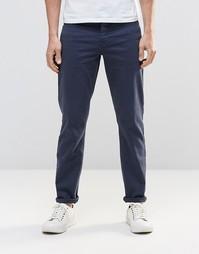 Эластичные темно-синие джинсы слим ASOS - Темный синий