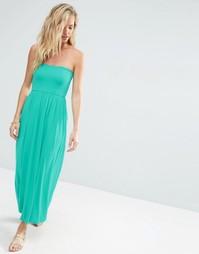 Платье макси с лифом бандо ASOS - Зеленый