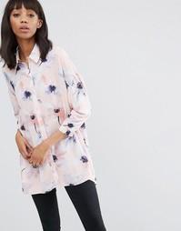 Oversize-блузка с современным цветочным принтом ASOS - Мульти
