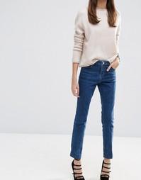Винтажные узкие прямые джинсы темно-синего цвета ASOS Castile - Синий