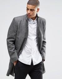 Пальто из смесовой шерсти Selected Mosto - Черный