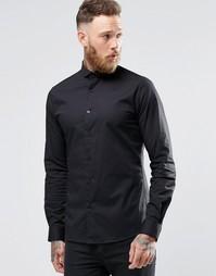 Эластичная зауженная рубашка с закругленным воротником Noose & MonkeyM