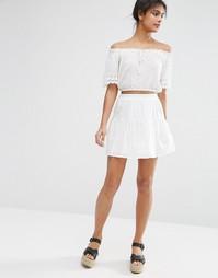 Ярусная мини-юбка ASOS - Белый