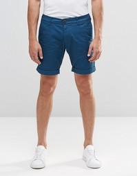 Строгие короткие шорты узкого кроя Selected Homme - Синий