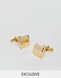 Квадратные золотистые запонки Reclaimed Vintage - Золотой