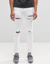 Зауженные рваные джинсы Dr Denim Snap - White ripped
