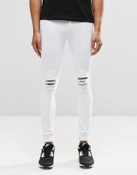 Супероблегающие рваные джинсы Dr Denim Dixy - White ripped