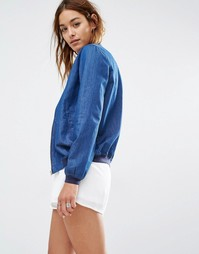 Джинсовая куртка-пилот Missguided - Умеренный синий