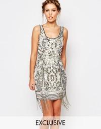 Платье с бахромой Frock and Frill - Белый