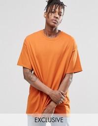 Oversize-футболка Reclaimed Vintage - Красно-бурый