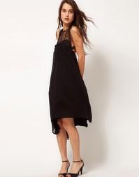 Платье-свинг с кружевной вставкой и узором глаз Kore by Sophia Kokosal