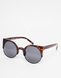 Солнцезащитные очки кошачий глаз в полуоправе Vans - Черепаховый