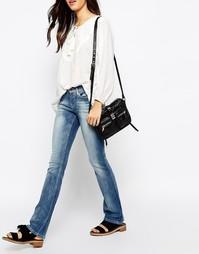 Облегающие джинсы с легким клешем Esprit - Синий