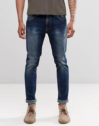 Суженные книзу джинсы слим Nudie Jeans Lean Dean - Двухслойный синий