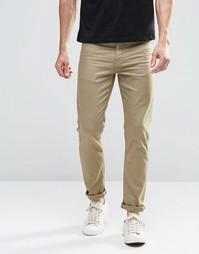 Светло-зеленые зауженные джинсы ASOS - Алюминиевый