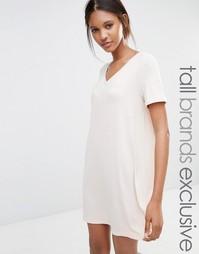 Платье-футболка в стиле oversize One Day Tall - Oatmeal