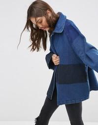 Куртка в стиле пэчворк Waven Sonja - Двухслойный синий