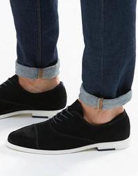 Замшевые оксфордские туфли с отделкой на носке ALDO Caliva - Черный