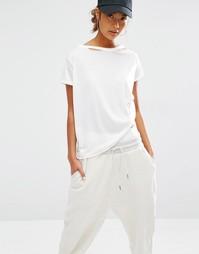 Свободная футболка с состаренной горловиной Daisy Street - Белый