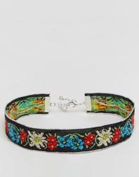Ожерелье-чокер с вышивкой Reclaimed Vintage - Мульти