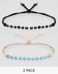 2 ожерелья-чокер с кристаллами Swarovski от Krystal