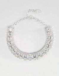 Каскадное ожерелье-чокер с кристаллами Swarovski от Krystal - Crystal