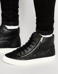 Высокие кроссовки с молнией Walk London - Черный