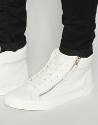 Высокие кроссовки с молнией Walk London - Белый
