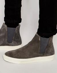 Замшевые кроссовки челси Hudson London - Серый