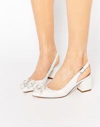 Туфли на каблуке с острым носом и отделкой ASOS SHIMMER
