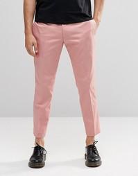 Розовые укороченные брюки скинни Religion - Розовый