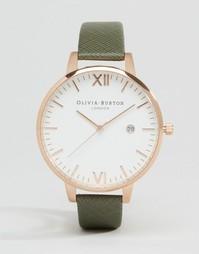 Часы с серым ремешком и большим циферблатом Olivia Burton OB15EX73