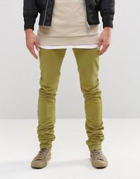 Супероблегающие джинсы цвета светлого хаки ASOS - Хаки светлый