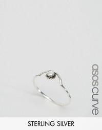 Серебряное кольцо с камнем ASOS CURVE - Серебряный