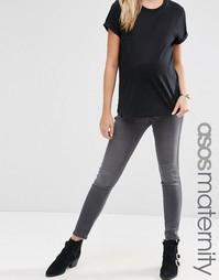 Серые джеггинсы для беременных ASOS Maternity Rivington - Серый