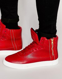 Высокие кроссовки Criminal Damage Catana - Красный