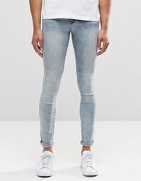 Голубые супероблегающие джинсы Dr Denim Kissy - Светло-синий треск