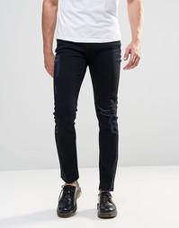 Черные джинсы скинни с прорехами на коленях Cheap Monday - Abyss