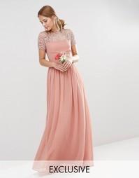 Плиссированное платье макси Maya - Сумеречно-розовый