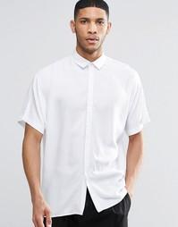 Белая oversize-рубашка с рукавами летучая мышь ASOS - Белый