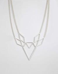 Ожерелье геометрической формы Pilgrim - Серебряный
