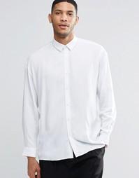 Белая oversize-рубашка ASOS - Белый