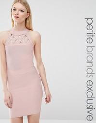 Бандажное платье с решеткой из лямок True Decadence Petite
