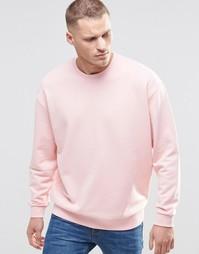 Розовый oversize-свитшот ASOS - Strawberry cream