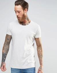 Серая меланжевая футболка Lee Ultimate - Меланжевый экрю