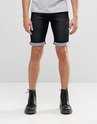 Черные джинсовые шорты слим Liquor & Poker - Выбеленный черный
