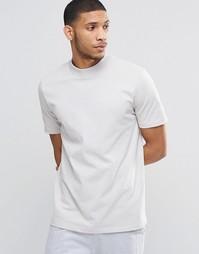 Свободная футболка для дома с высоким воротником ASOS - Белый