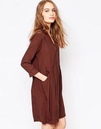 Свободное платье шоколадного цвета Just Female Lola - Шоколадный