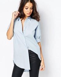 Рубашка с принтом на спине Noisy May - Синий
